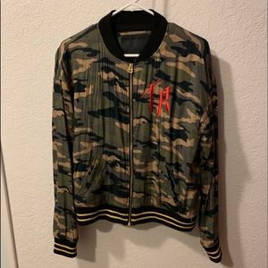 True Religion Women's Camo Bomber Jacket